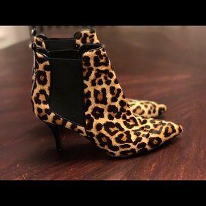 Michael Kors leopard ankle boots
